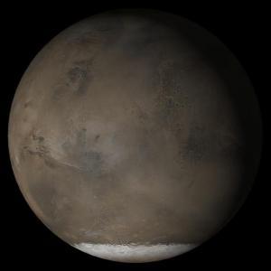 Как се е образувал огромният многопластовледс CO2 на южния полюс на Марс?