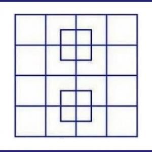 Тест: Колко квадрата виждате?