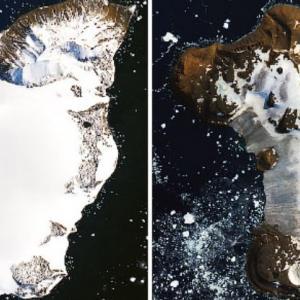 Нови снимки на NASA показват шокиращата скорост, с която ледовете в Антарктида се топят