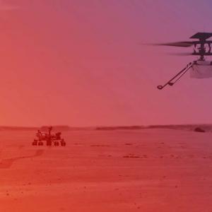 Мини хеликоптерът Ingenuity полетя успешно над Марс!