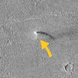 NASA засне прашен дявол на Марс