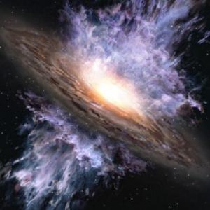Учени засякоха гигантска бушуваща черна дупка в ранната Вселена