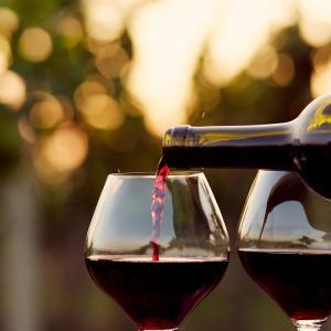 Чаша вино вместо фитнес