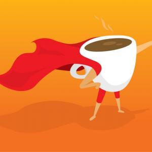 Виц: Едно силно кафе