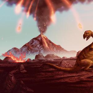 Грандиозни изригвания на вулкани са направили услуга на динозаврите
