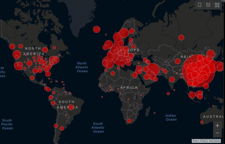 Tazi Karta Pokazva Trevozhnoto Razprostranenie Na Koronavirusa Obekti