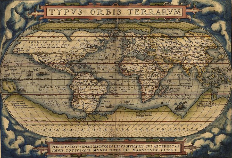 20 май 1570 г. - Картографът Абрахам Ортелий издава първия ...