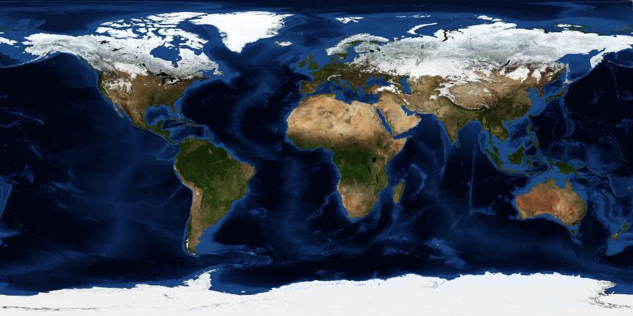 Satelitni Snimki Na Zemyata Pokazvat Kak Svett Disha Obekti